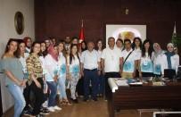 HACIBEKTAŞ VELİ - Yunus Emre Enstitüsü Öğrencileri Başkan Karaaslan'ı Ziyaret Etti