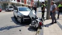 NAMIK KEMAL - Düzce'de İki Otomobil İle Motosiklet Çarpıştı Açıklaması 1 Yaralı
