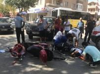 ELEKTRİKLİ BİSİKLET - Kamyonet Elektrikli Bisiklete Çarptı Açıklaması 1 Yaralı
