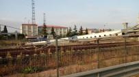 HıZLı TREN - Sondaj Makinesi Hızlı Tren Yoluna Devrildi