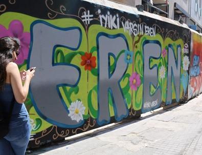 Eren Bülbül için İstiklal'de grafiti yapıldı