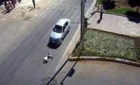 POLİS MERKEZİ - Adıyaman'da Trafik Kazaları MOBESE Kameralarına Yansıdı