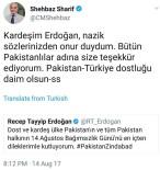 TWITTER - Cumhurbaşkanı Erdoğan'ın Pakistan'a Kutlama Mesajına Cevap