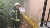 YANGINA MÜDAHALE - Karaman'da Kömürlük Yangını