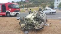 TAFLAN - Otomobil Takla Attı Açıklaması 2 Ağır Yaralı