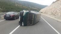 Takla Atan Aracın Sürücüsünün Şans Eseri Burnu Bile Kanamadı