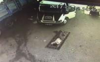 Uyurken Üzerinden Kamyonet Geçen Kişinin Görüntüleri Güvenlik Kamerasında