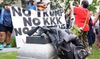 VIRGINIA - ABD'de Protestocular Konfederasyon Anıtı Heykelini Yıktı