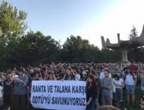 ODTÜ'de yol protestosu