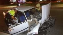 Samsun'da İki Otomobil Çarpıştı Açıklaması 5 Yaralı