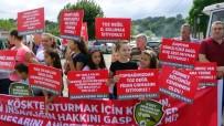 BAŞPıNAR - Silivri'de Kadın Ve Çocuklardan 'Hafriyat Kamyonu' Eylemi