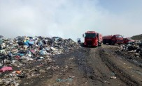 İTFAİYE ARACI - Bodrum Çöplük Yangını Kontrol Altında