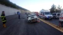 Mut'ta Otomobil Takla Attı Açıklaması 3 Yaralı