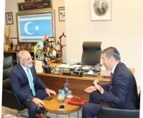 MUSTAFA KEMAL ATATÜRK - Yalçın Topçu Kazak Büyükelçinin Ziyaretinde Tuncay Özkan'a Yüklendi