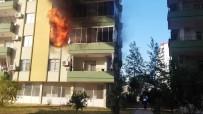 YANGINA MÜDAHALE - Silifke'de Korkutan Yangın