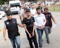 KORSAN GÖSTERİ - Adana'da PKK Operasyonunda Gözaltına Alınan 23 Kişi Adliyeye Sevk Edildi