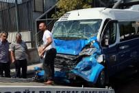 Başkent'te Dolmuş EGO Otobüsüne Çarptı Açıklaması 9 Yaralı