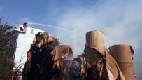 SARMAŞıK - Halkalı'da Kağıt Fabrikasında Yangın Havadan Görüntülendi