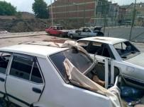 Hurda Araç Yandı, Mahalleli Tepki Gösterdi
