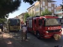 TAŞKALE - Karaman'da Midibüste Yangın Paniği