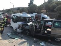 Kuşadası'nda Dolmuş İle Minibüs Çarpıştı Açıklaması 8'İ Turist 16 Yaralı