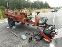 ÇAPA MOTORU - Şaphane'de Çapa Motoru Devrildi Açıklaması 3 Yaralı
