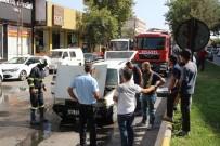 ŞIRINEVLER - Seyir Halinde Yanan Araç Paniğe Neden Oldu