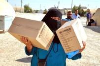 SÜLEYMAN ŞAH - Bayram Öncesi Suriyeli Mültecilere Temizlik Malzemesi Dağıtılıyor