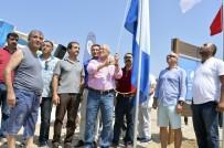 KıZKALESI - Mersin'de İlk Mavi Bayrağı Kızkalesi Halk Plajında Göndere Çekti