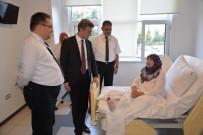 KANSER TEDAVİSİ - Vali Baruş, Hasta Şehit Ailelerini Yalnız Bırakmadı