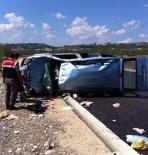 112 ACİL SERVİS - Yoldan Çıkan Otomobil Takla Attı Açıklaması 5 Yaralı