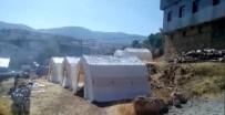 11 Evin Yandığı Köyde AFAD Çadırları Kuruldu
