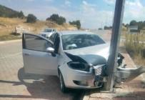 Çorum'da Trafik Kazası Açıklaması 2 Yaralı