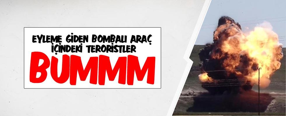 Van'da bomba yüklü araç imha edildi