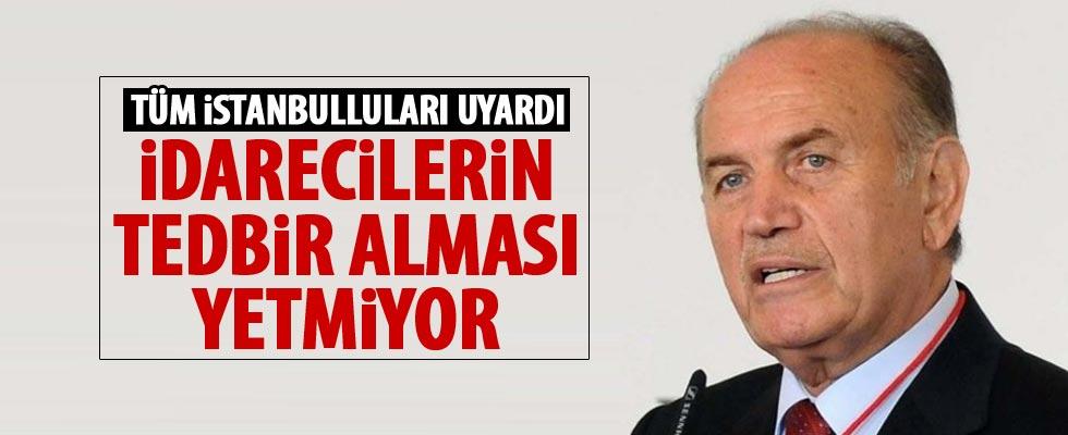 Kadir Topbaş'tan İstanbullulara uyarı