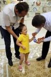 İHSAN YıLDıRıM - Protezine Kavuşan Küçük Özge'den Başkan Türel'e Nazar Boncuğu