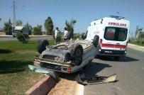 Suriyeli Ailenin Bulunduğu Araç Kaza Yaptı Açıklaması 4 Yaralı