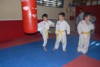 Tek Yumurta Üçüzleri 6 Ay Önce Başladıkları Karatede İlk Madalyalarını Aldı