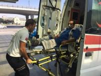 Yılanın Isırdığı İşçi Ambulansla Hastaneye Kaldırıldı