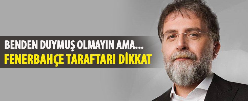 Ahmet Hakan'dan Fenerbahçe açıklaması