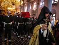 CENAZE TÖRENİ  - Ermeni Kıbrıs gazisi için kilisede tören