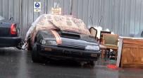 METEOROLOJI - İstanbul'da Sürücüler Araçlarını Dolu Yağışından Böyle Korudu