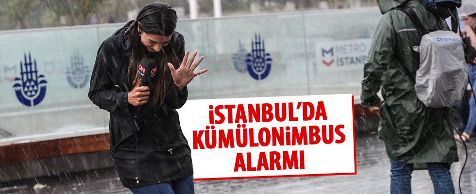 İstanbul'da kümülonimbus önlemi