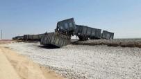 YÜK TRENİ - Karaman'da Yük Treni Raydan Çıktı