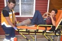 ALIBEYKÖY - Kaza Yapan Gençten Kalp İşareti