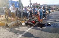 Selimiye'de Otomobil İle Motosiklet Çarpıştı, 1 Yaralı