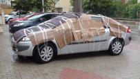 DOLU YAĞIŞI - Vatandaşlardan Araçlarına Kartonlu Ve Halılı 'Dolu' Önlemi