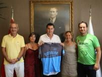 BİSİKLET TURU - Bodrum Bisiklet Kulübünden Başkan Kocadon'a Ziyaret