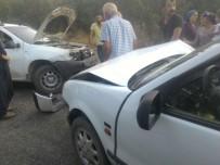 ESKIKÖY - İki Otomobil Kafa Kafaya Çarpıştı Açıklaması 5 Yaralı