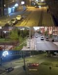 KIRMIZI IŞIK - Kars'ta 5 Kişinin Yaralandığı 3 Ayrı Trafik Kazası MOBESE'ye Yansıdı